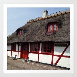 Farm house Denmark Art Print