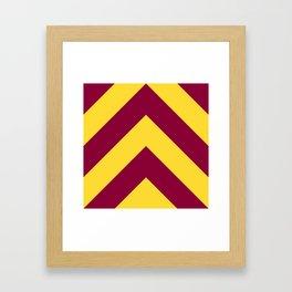 Sunnydale High Chevron (Maroon & Gold - #8A0034 x #FFDC32) Framed Art Print