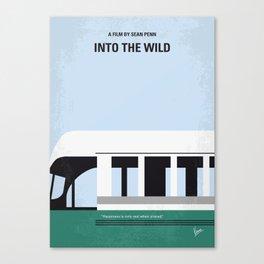 No677 My Into the Wild minimal movie poster Canvas Print