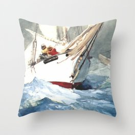 Diamond Shoal 1905 By WinslowHomer | Reproduction Throw Pillow