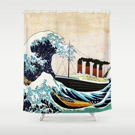 BIG SHIP big wave Shower Curtain