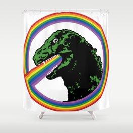 Rainbow Lizard Shower Curtain