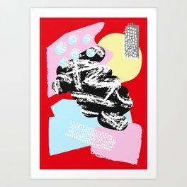 Collage Pattern 01 Art Print