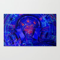 headphones Canvas Prints featuring Headphones by Timmy Placement McCloskey
