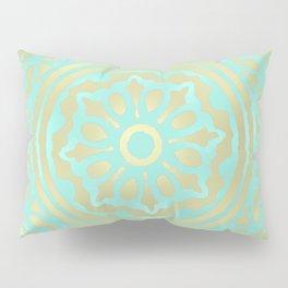 flower power: portobello aqua & olive Pillow Sham