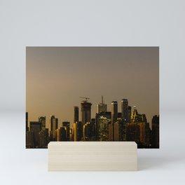 Toronto Skyline at Golden Hour Mini Art Print