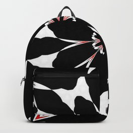 Bizarre Red Black and White Pattern 4 Backpack