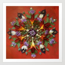 July Nature Mandala II Art Print