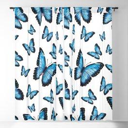 Blue butterfly pattern Blackout Curtain