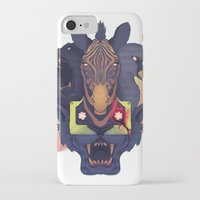 hotline miami iPhone & iPod Cases featuring Hotline Miami 2: The Fans by FinnbarrMartin