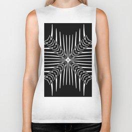 Geometric Black and White Skeleton African-Inspired Pattern Biker Tank