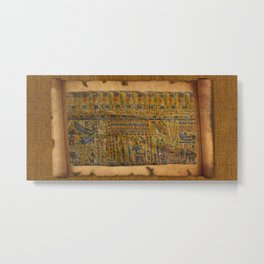 Ancient Egyptian Funerary Scroll pre 944 BC Metal Print