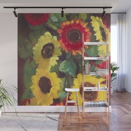 Sunflowers by Emil Nolde Wall Mural