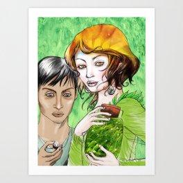 Pagan magic Art Print