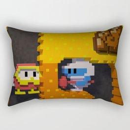 Inside Dig Dug Rectangular Pillow