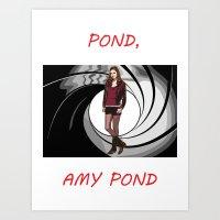 amy pond Art Prints featuring Pond, Amy Pond by DarkCrow