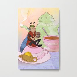 The Fairy and the Thimble Metal Print