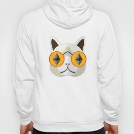Ethereum Cat Hipster Hoody