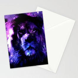 Lion leo purple Stationery Cards
