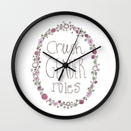 Crush gender roles Wall Clock