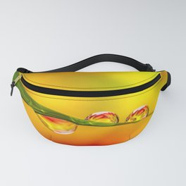 Flower In Water Droplet Fanny Pack