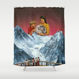 We captured the moon. Shower Curtain