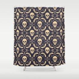 Happy halloween skull pattern Shower Curtain