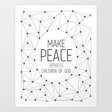Make Peace Art Print