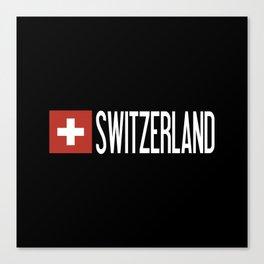 Switzerland: Swiss Flag & Switzerland Canvas Print