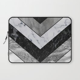 Shimmering mirage - grey marble chevron Laptop Sleeve