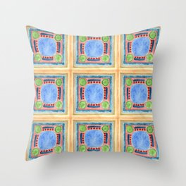Green Lemons Throw Pillow