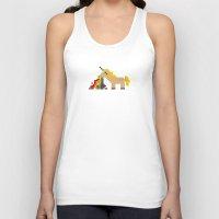 unicorn Tank Tops featuring unicorn by MariMari