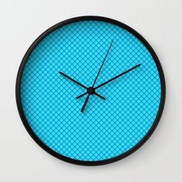 Light blue polka dot pattern Wall Clock