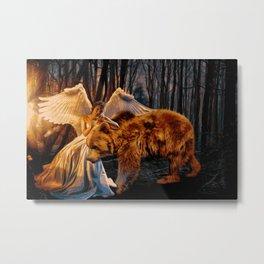 Spirit Guide & Guardian Angel (Painting) Metal Print