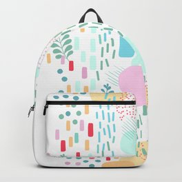 Abstract Nature - Colourful Doodle Pattern 3 Backpack