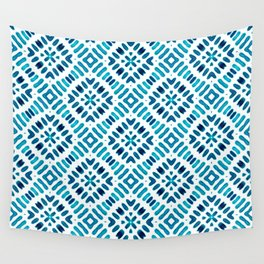 Shibori Watercolour no.7 Turquoise Wall Tapestry