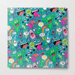 Monster Party Metal Print