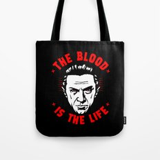 The blood is the life Tote Bag