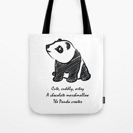 Gothic Panda  Tote Bag