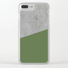 Concrete and kale color Clear iPhone Case