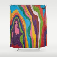 "pastel goth Shower Curtains featuring ""Alien Goth"" (7211) by DelusionalDiva"