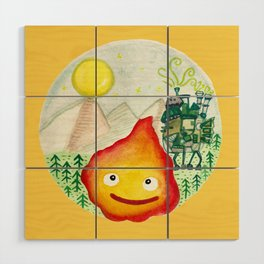 Howl's Moving Castle - Calcifer Wood Wall Art