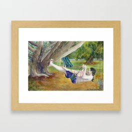 Only Way to Fly Framed Art Print