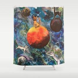 Space Catz Shower Curtain