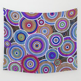 Colorfull Aboriginal Dot Art Pattern Wall Tapestry