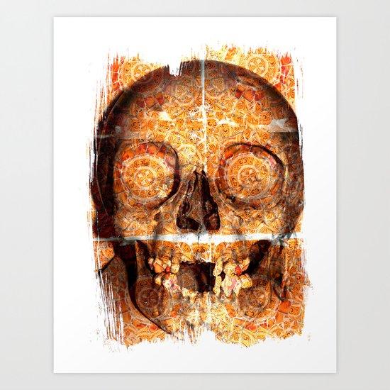 mosaica skully Art Print