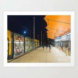 Light Rail Station Art Print