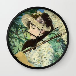 Manet's Jeanne Wall Clock