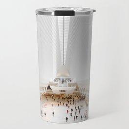 The Oculus at the World Trade Center | Calatrava #architecture #society6 Travel Mug