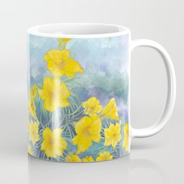 Stella D'Oro Daylily flowers over clouds Coffee Mug